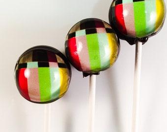6 Jumbo TV Signal Hard Candy Lollipops