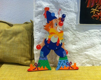 Vintage Jumping Jack Wood Toy Wall Decoration Made in Germany Mertens