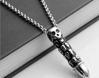 New Skull Bullet  with 2 necklaces