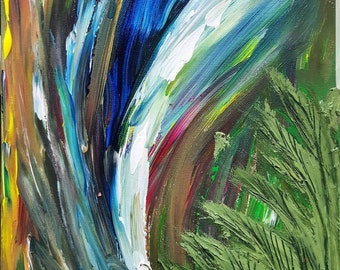 Maybe a Rain Forest - abstract painting