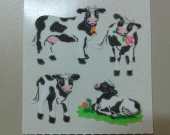Sandylion Stickers Fuzzy Cow, Cows, Animal, Animals   (1 mod)