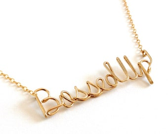 Bossed Up Necklace. Gold Bossed Up Necklace.