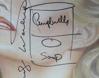 ANDY WARHOL - signed original vintage soup can drawing - c1986 (with COA and provenance)