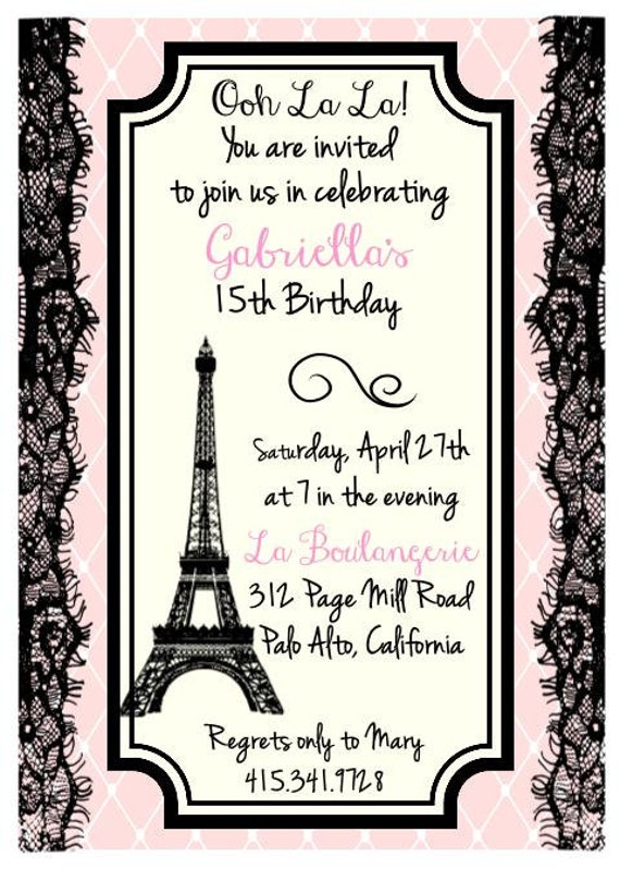 Printed eiffel tower parisian theme birthday bridal shower zoom filmwisefo