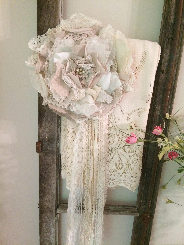 shabby chic fleur embrasses nouer dos rideau cravate dos. Black Bedroom Furniture Sets. Home Design Ideas