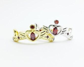 Sailor Moon ring, crisis moon ring sterling silver 18k gold