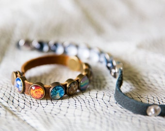 Solar System Leather Bracelet