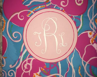 Lilly Monogram Painting