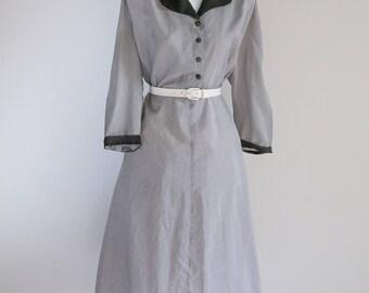 Semi Sheer Gingham Dress  - Sz XL