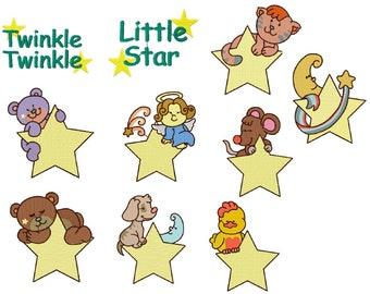 Little Star Machine Embroidery Design Set 4X4