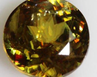 Gem Sphene 1.99cts Round Cut 7.60mm Baja California USA R283 Yellow Loose Faceted Gemstone Jewelry Making Semi Precious Gemstone