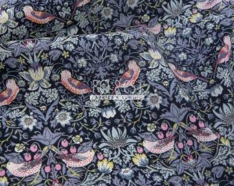 Liberty of London (Cotton Tana Lawn Fabric) - Strawberry Thief grey - 50cm