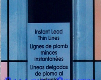 Plaid Gallery Glass Paint ~ 21' Thin Redi-Lead Strips ~ Instant Lead Lines 16092
