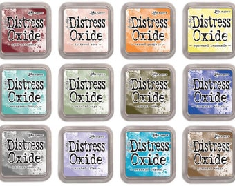 Distress Oxide ink pads, set #3, by Tim Holtz, all 12 colors, January 2018 release - IP070