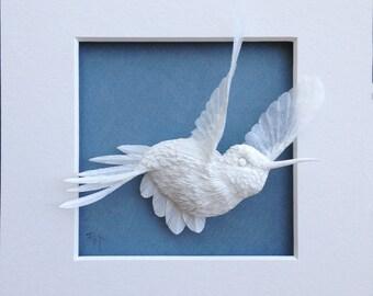 Paper Hummingbird Sculpture Art A Journey Made to Order