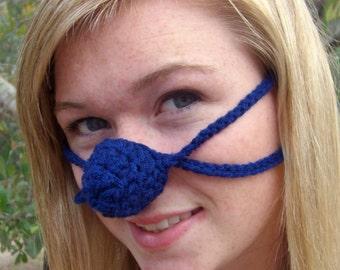 True Blue Nose Warmer, Nose Cozy, Tween, Teen, Adult, Unisex, Gag Gift, Nose Mitten