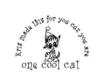 Cool Cat Custom Stamp - C507