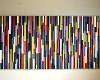 Wood Wall Art - Wood Artwork - 3D Art - Wood Sculpture - 30X66