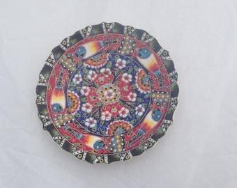 Hand made Islamic glazed Kutahya/Wall Plate/Fish Plate ( Ref No. A75 )