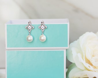 Bridesmaid Jewelry | Bridesmaid Earrings | Bridesmaid Gifts | Personalized Gifts | Wedding Jewelry | Pearl Earrings | Bridesmaid Proposal