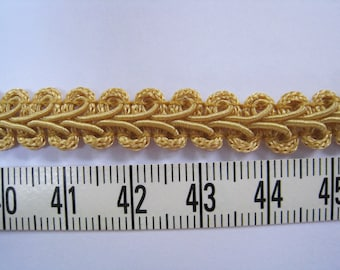 3 to 6 yards Medium Gimp Braid Trim 3/8 inch or 10mm Width - Choose Your Own Yards -Number 36 Golden  Yellow