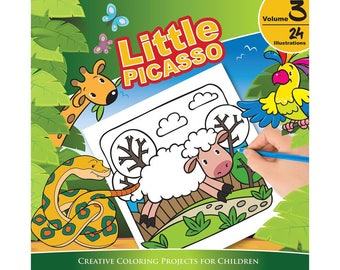 Little Picasso Vol 3 (Creative Coloring Projects for Children)
