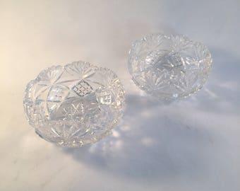 Crystal Decorative Bowls Set of 2