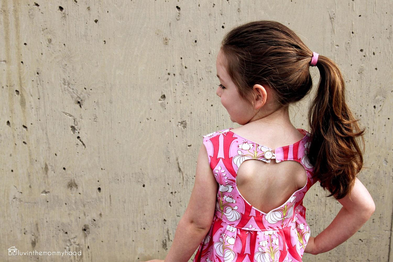 Sweetheart dress sewing pattern back heart cut out retro for zoom jeuxipadfo Gallery