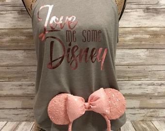 Love Me Some Disney Rocker Tank with *Millennial Pink* Foil