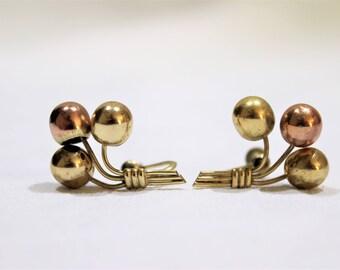 Vintage Gold Clip On Screw Back Earrings, Vintage Earrings, 1/20 12k G.F.