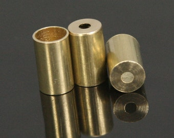 cord  tip ends 20 pcs 6X10mm 5 mm inner raw brass cord  tip ends, raw brass ribbon end, raw brass ends cap, findings ENC5 1647