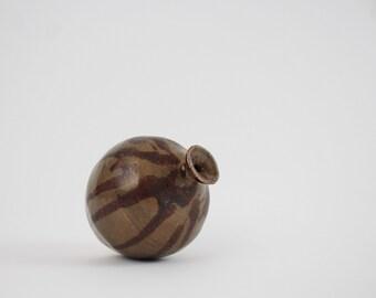 Vintage Studio Pottery Miniature Vase - Signed Ceramic Bud Vase Studio Art Pottery