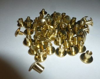 CHICAGO SCREWS   Brass  100 Count 1/4 in