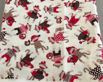 Monkey doll fabric by quilting treasures 1 yard