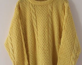 Braided Sweater Vintage 90s Made in Italy