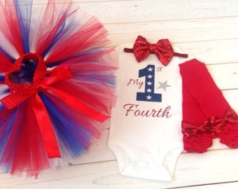 4th of July outfit, red, white and blue outfit, patriotic tutu outfit,  Fourth of July outfit, 1st Fourth of July outfit, First 4th of July