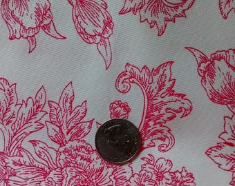 French Country Home Decor Fabric floral twill 5 yards available