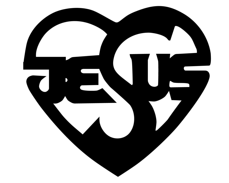 Jesus heart decal jesus written in heart bumper sticker zoom biocorpaavc