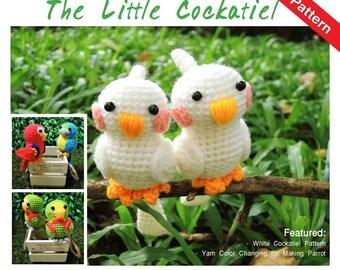 PDF Pattern - Amigurumi Cockatiel Bird Pattern