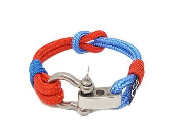 Bran Marion Nautical Bracelet Adjustable | Bracelet manille | bracelet nautique | pulsera hombre | Schäkel Armband