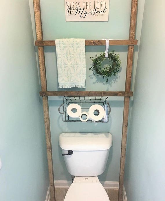 Toilet Ladder // Bathroom Decoration // Towel Decor // Storage