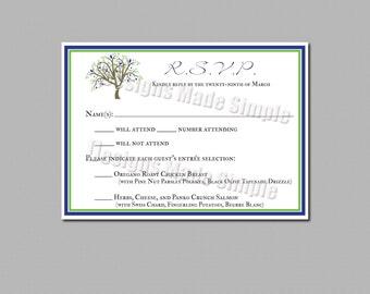 Tree themed Response/RSVP Card - Printables