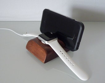 Apple Watch Stand, iPhone Stand, Apple Watch Dock, Phone Slot Behind Watch