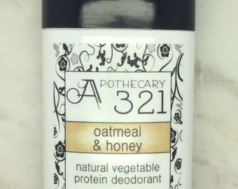 Oatmeal and Honey Natural Deodorant, Aluminum Free, Paraben Free Vegan Deodorant Oatmeal Scented