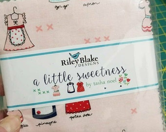 "Tasha Noel Little Sweetness 5"" squares Charm Pack quilting cotton fabric"