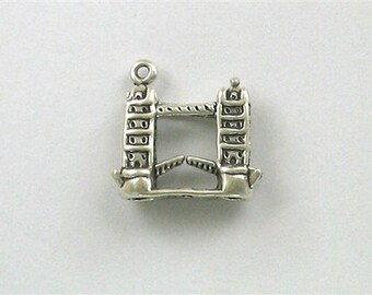 Sterling Silver 3-D London Bridge Charm