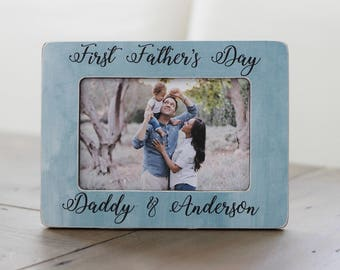 First Father's Day, Personalized Picture Frame, Fathers Day GIFT, New Dad, Gift for Husband, Father's Day