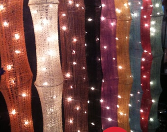 Curtain String Lights Hanging Cotton Yan Star Fairy Lights Bedroom Home  Decor Living Room Wall Hanging