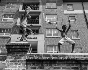 Youth of the Southern Wild - New Orleans 2017 - Fine Art Photograph - Street Photography - Black and White - Fine Art Print - Second Line