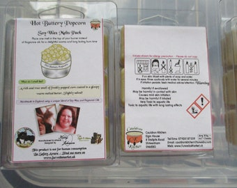 Hot Buttery Popcorn Scented Soy Wax Melts Pack